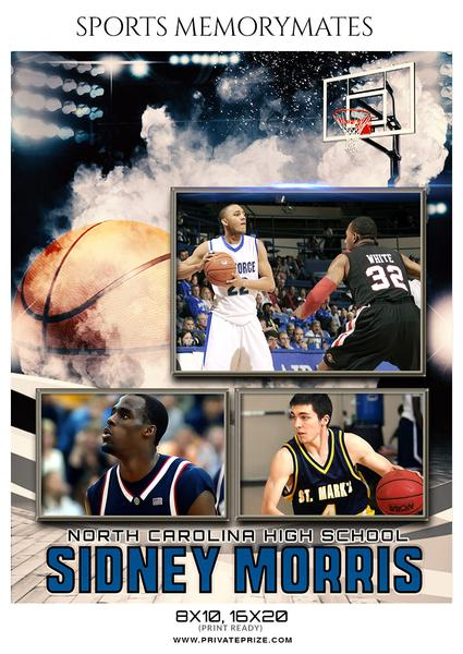 September Basketball Bundle Photography Photoshop Template