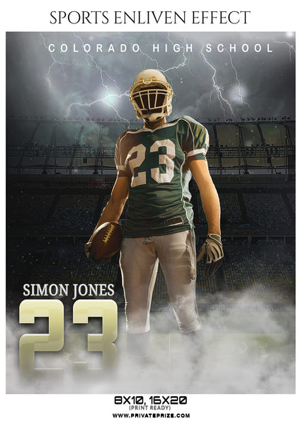 Simon Jones - Football Sports Enliven Effect Photography Template - Photography Photoshop Template