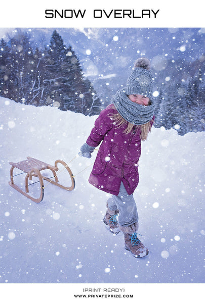 Snow Overlay - Winter and Christmas Prop - Photography Photoshop Templates