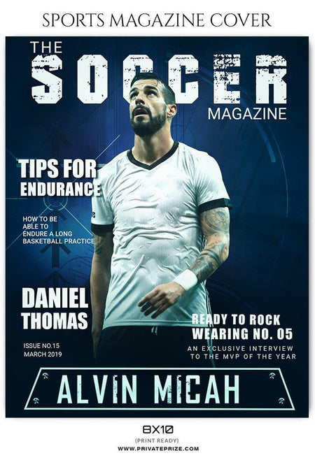 Soccer - Sports Photography Magazine Cover templates - Photography Photoshop Template
