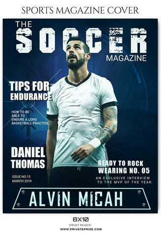 Sports Magazine Cover Photoshop Template Privateprize