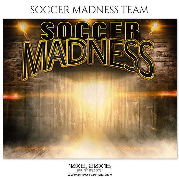 SOCCER MADNESS TEAM - Soccerr Themed Sports Photography Template