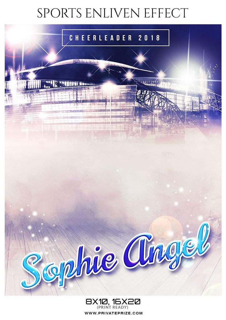 sophie angel cheerleader sports photography template
