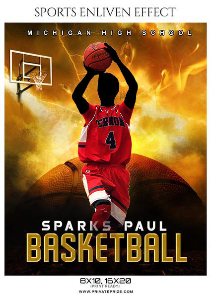 Sparks Paul - Basketball Sports Enliven Effects Photography Template