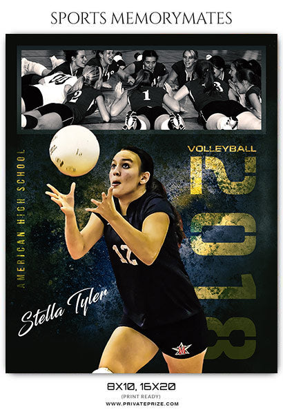 Stella Tyler Volleyball Memory Mate Photoshop Template