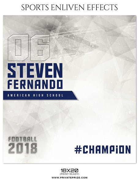Steven Fernando - Football Sports Enliven Effect Photography Template - Photography Photoshop Template