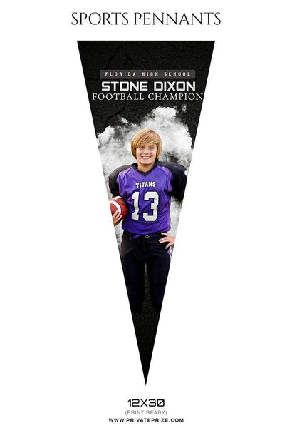 Stone Dixon - Sports Football Pennants Photography Templates