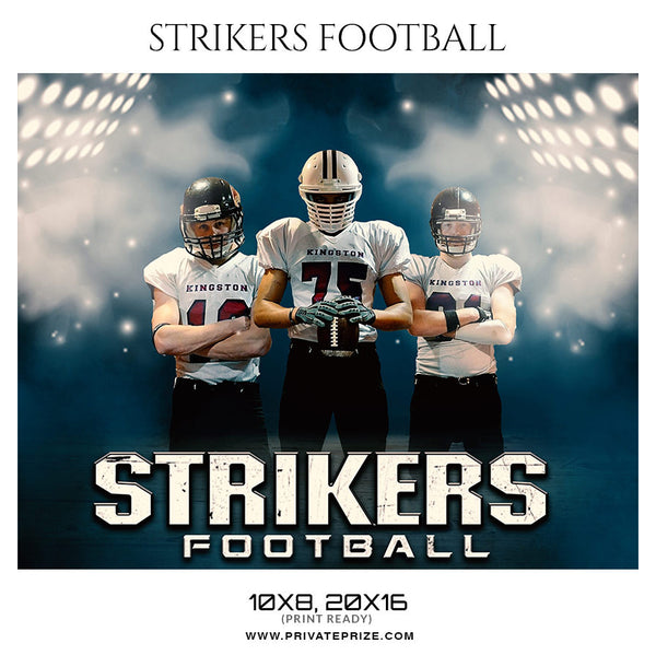 STRIKERS FOOTBALL  Themed Sports Photography Template - Photography Photoshop Template