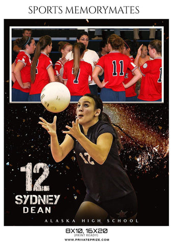 Sydney Dean - Volleyball Memory Mate Photoshop Template