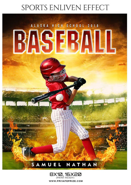 Samuel Nathan - Baseball Sports Enliven Effect Photography Template