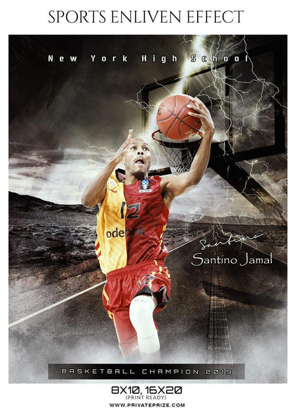 Santino Jamal - Basketball Sports Enliven Effect Photography Template