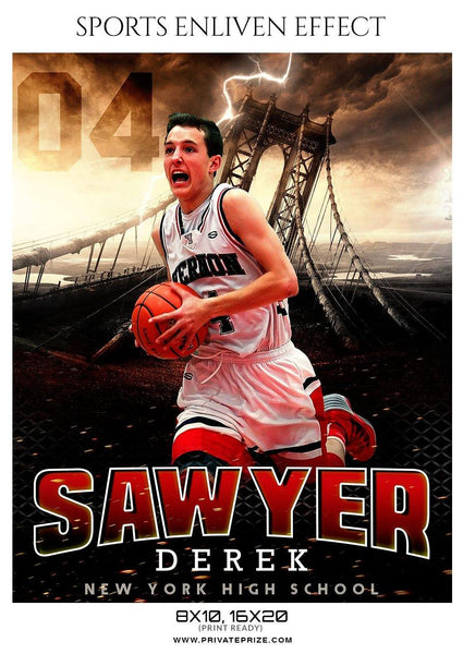 Sawyer Derek - Basketball Sports Enliven Effect Photography Template
