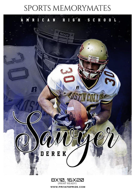 Sawyer Derek - Football Memory Mate Photoshop Template