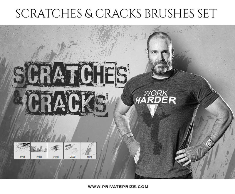 Scratches & Cracks-Brushes - Photography Photoshop Template