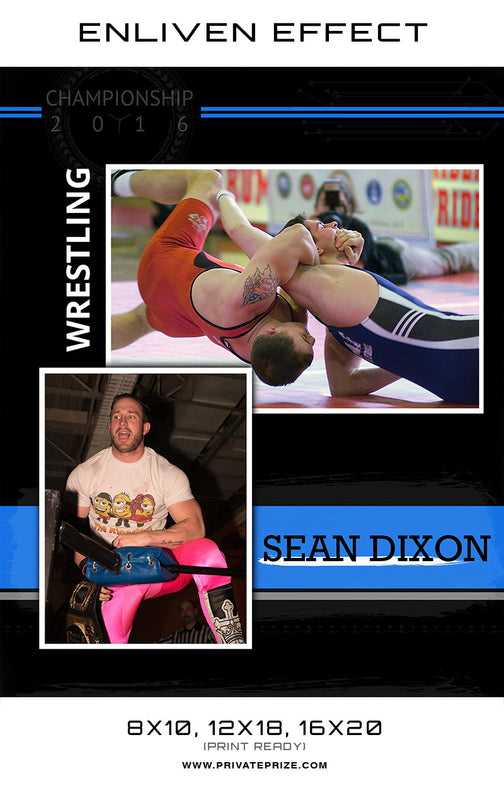 Sean Wrestler - Enliven Effects - Photography Photoshop Templates
