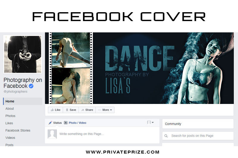 Facebook Timeline Cover Senior Dance Photography - Photography Photoshop Templates