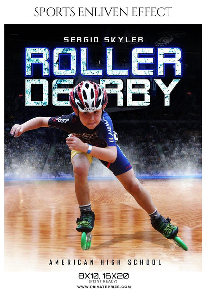 Sergio Skyler - Roller Derby Sports Enliven Effect Photography template