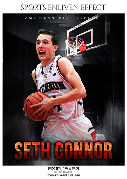 Seth Connor - Basketball Sports Enliven Effect Photography Template