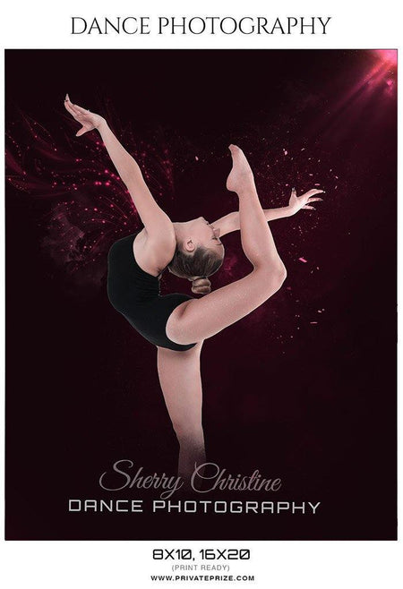 Sherry Christine - Dance Photography Templates - Photography Photoshop Template
