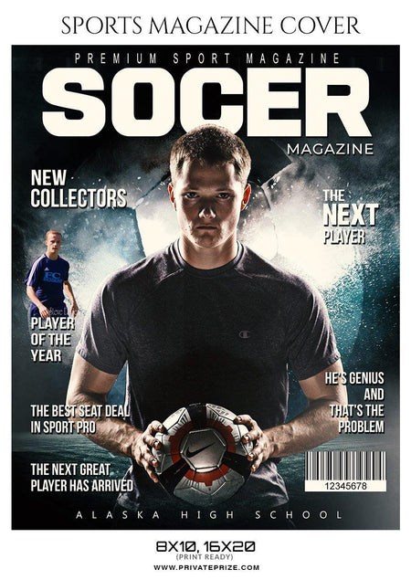 Soccer Sports Photography Magazine Cover