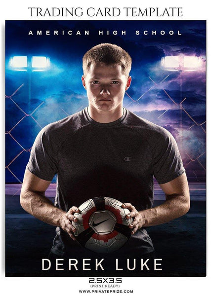 Soccer Trading Card Sports Photoshop Template