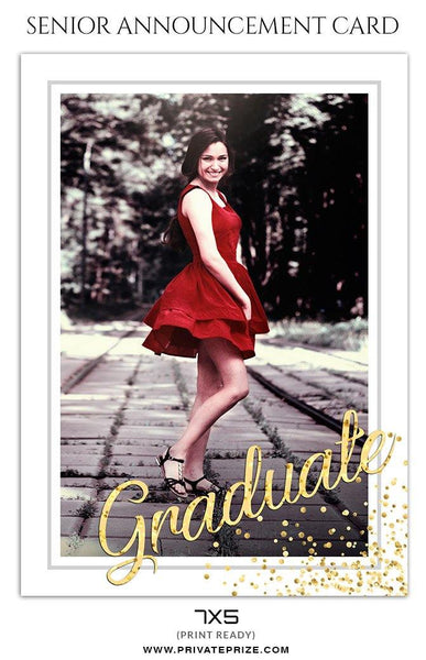 Sophia Aiden - Senior Announcement Card Templates