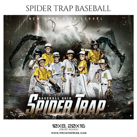 Spider Trap - Themed Sports Photography Template - Photography Photoshop Template