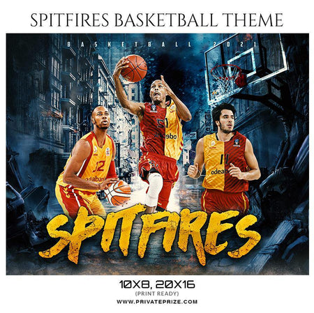 Spitfires - Basketball Theme Sports Photography Template - PrivatePrize - Photography Templates