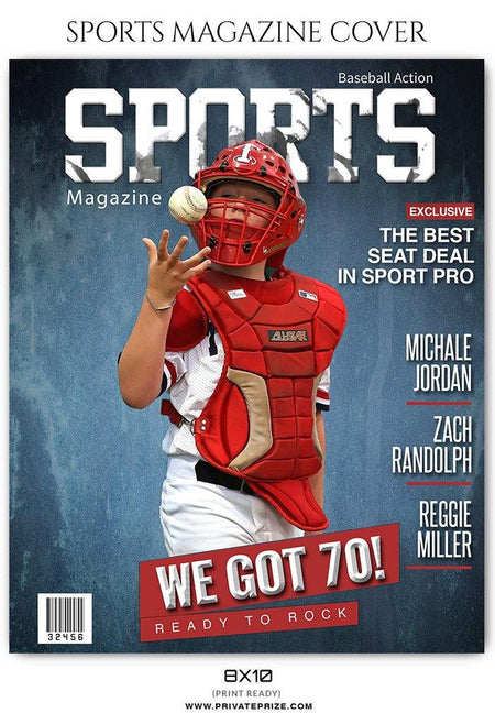 Sports Photography- Baseball Magazine Cover