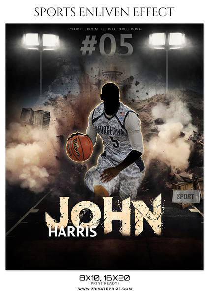 John Haris - Basketball Sports Enliven Effects Photography Template