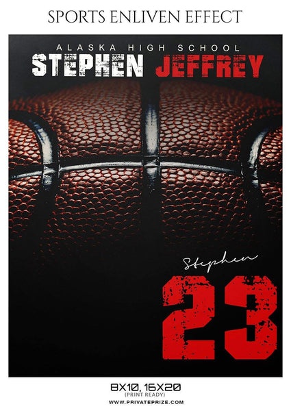 Stephen Jeffrey - Basketball Sports Enliven Effect Photography Template