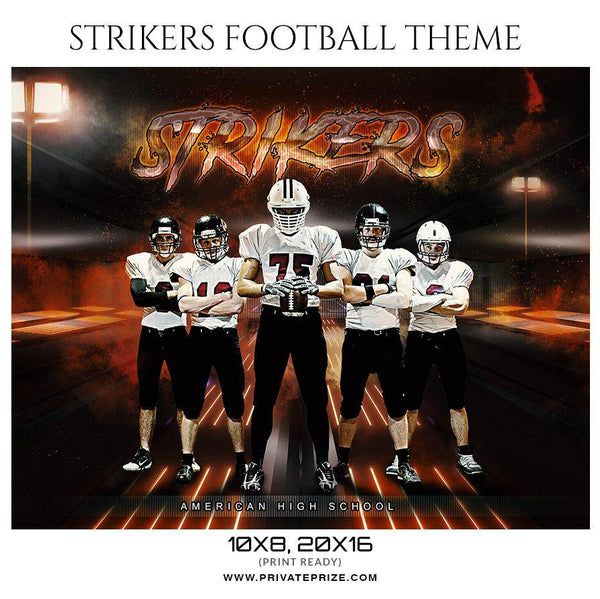 Strikers - Football Themed Sports Photography Template - Photography Photoshop Template