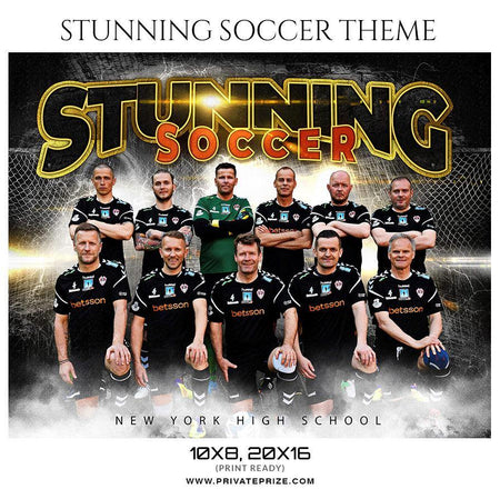 Stunning - Soccer Themed Sports Photography Template - PrivatePrize - Photography Templates