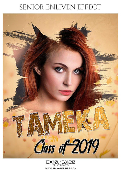 Tameka - Senior Enliven Effect Photography Template