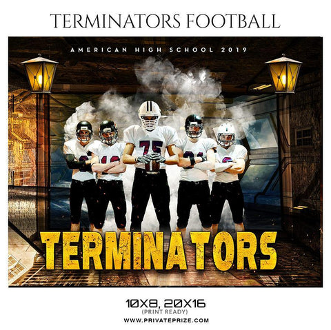 Terminators - Football Themed Sports Photography Template