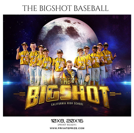 The Big Shot Baseball Themed Sports Photography Template