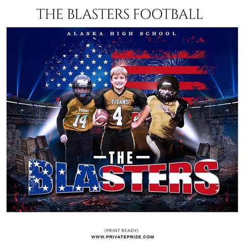 The Blasters - Football Themed Sports Photography Template