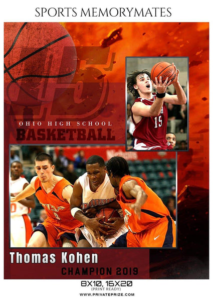 Thomas Kohen - Basketball Memory Mate Photoshop Template
