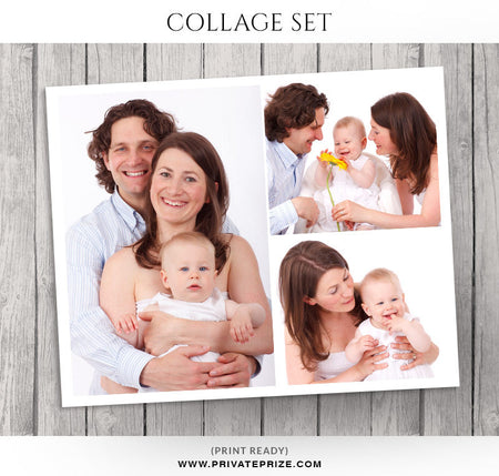 New Born Photo Collage Template - Story Board - Photography Photoshop Template