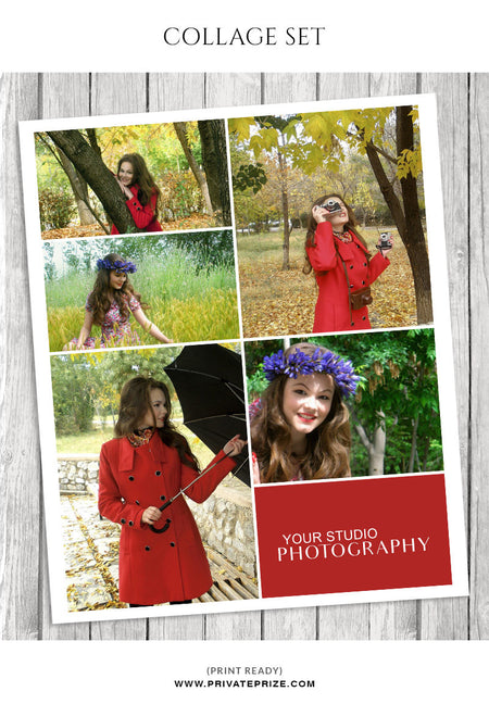 Lisa  Photo Collage Template - Story Board - Photography Photoshop Template