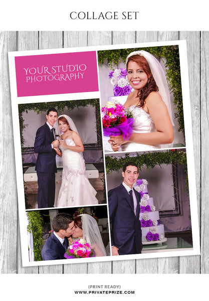 Wedding Photo Collage Template - Story Board - Photography Photoshop Templates