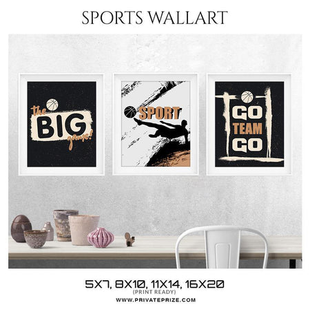 The Big Game - Sports Wall Art, Modern Wall Decor, Printable Wall Art, Digital Download Art, Motivational Quote, Instant Download - Photography Photoshop Template