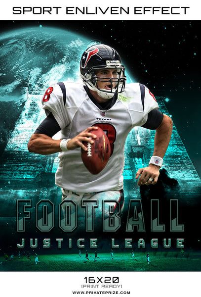 Football justice league 2017 themed sports template for Sports team photography templates