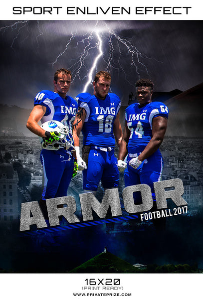 Armor Football 2017  Themed Sports Template - Photography Photoshop Templates