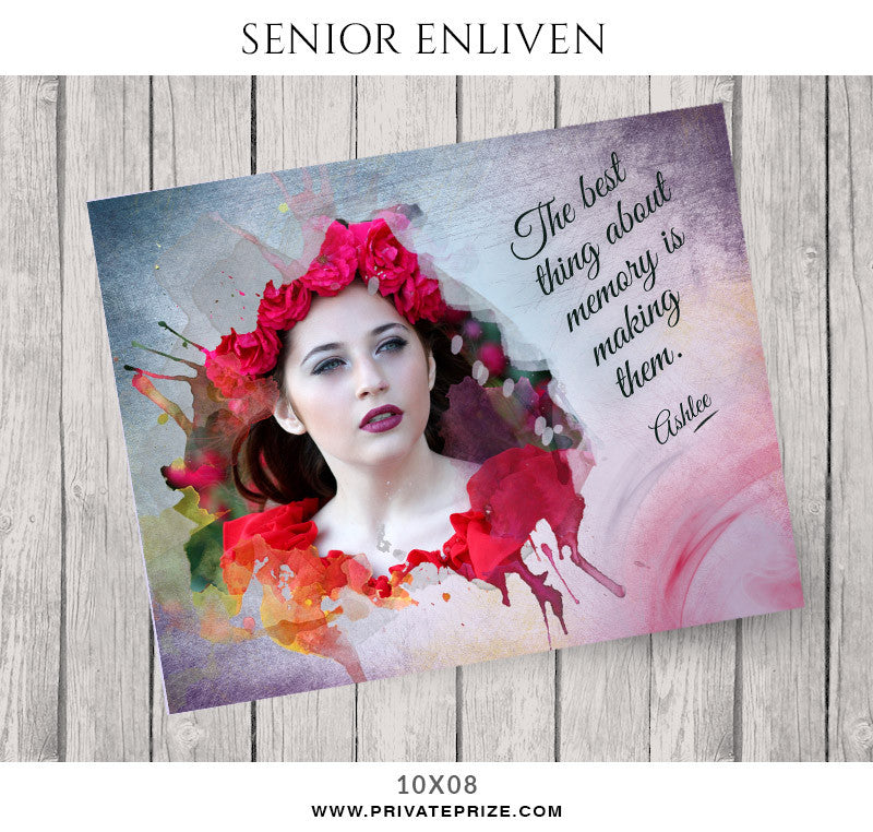 Ashlee- Senior Enliven Effects - Photography Photoshop Templates