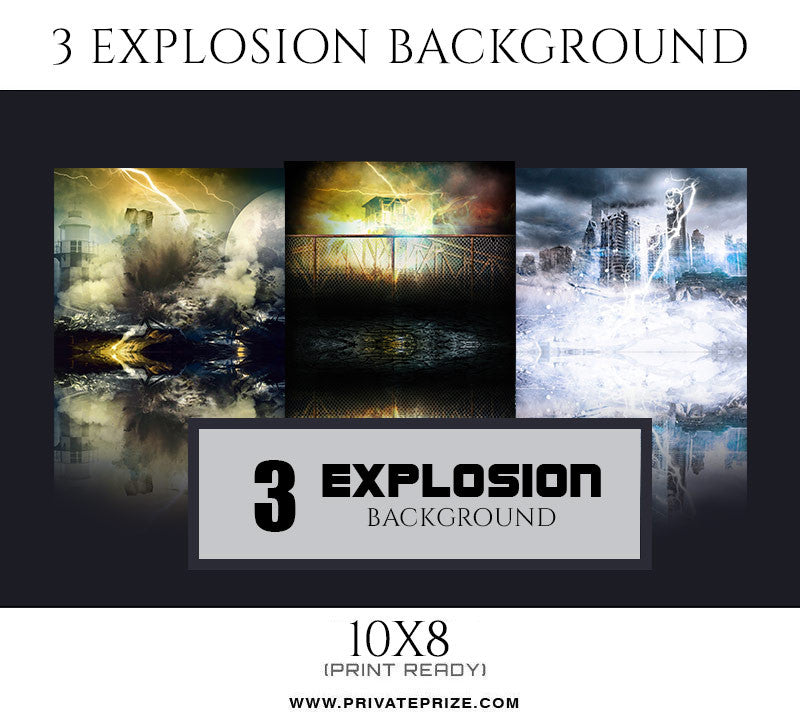 Explosion Sports Background Set - Photography Photoshop Template
