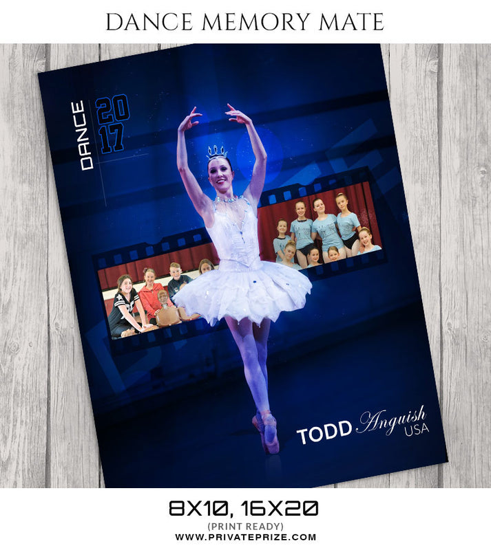 Power of Blue-Dance Memory Mate - Photography Photoshop Templates
