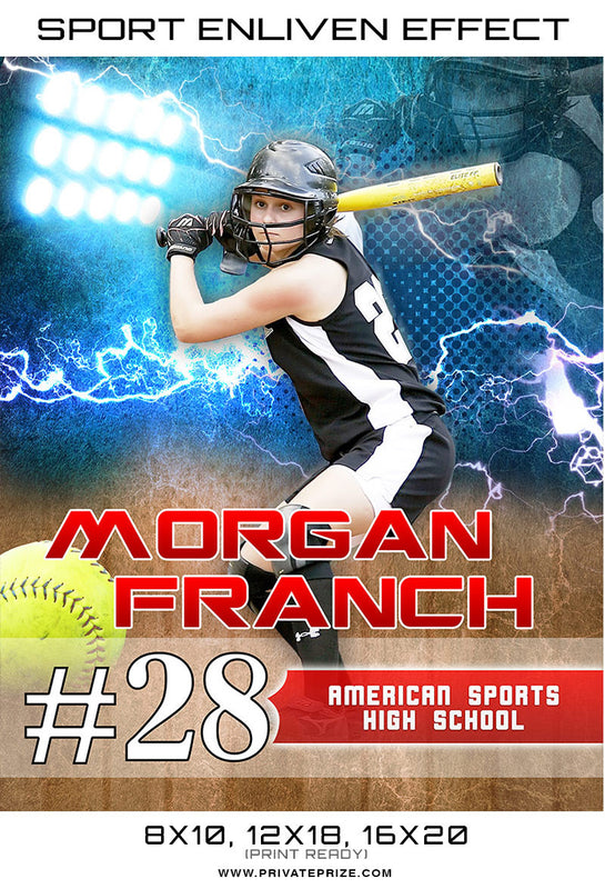 Morgan 2017 Sports Photography Template -  Enliven Effects - Photography Photoshop Template