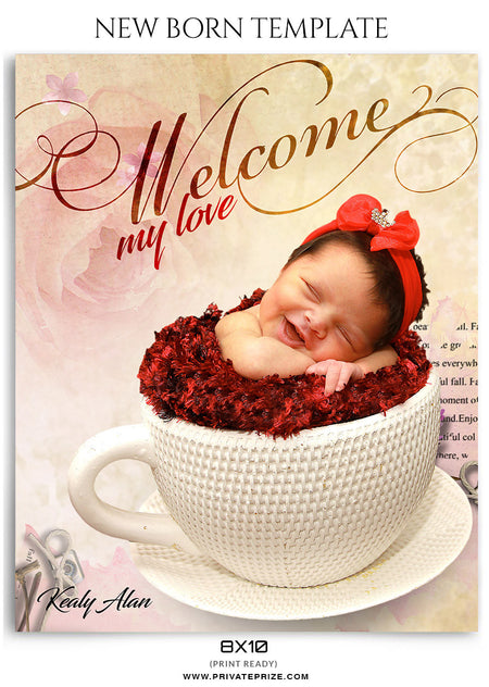 Kealy Alan- New Born - Photography Photoshop Template