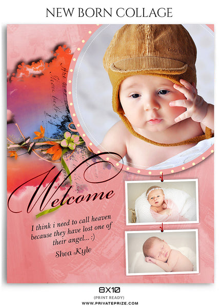 Shea Kyle- New Born - Photography Photoshop Template